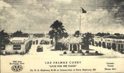 Las Palmas Court - Laredo, Texas TX Postcard