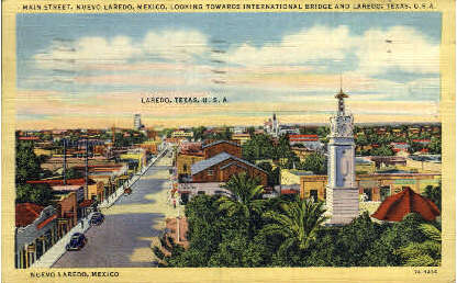 Main Street - Laredo, Texas TX Postcard
