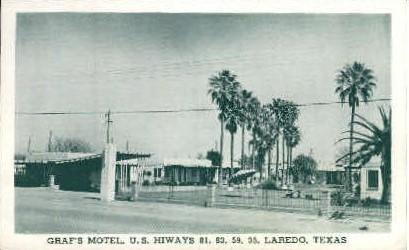 Graf's Motel - Laredo, Texas TX Postcard