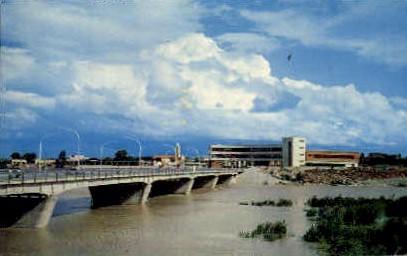 Rio Grande Bridge - Laredo, Texas TX Postcard