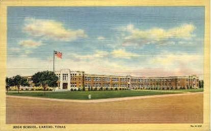 High School - Laredo, Texas TX Postcard