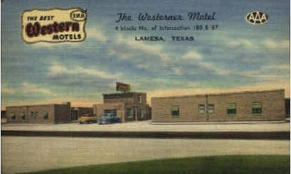 Best Western Hotels - Lamesa, Texas TX Postcard