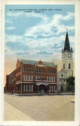 St. Augustine Parochial School  - Laredo, Texas TX Postcard