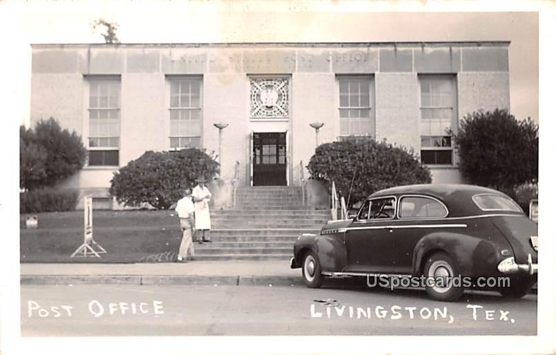 Post Office - Livingston, Texas TX Postcard