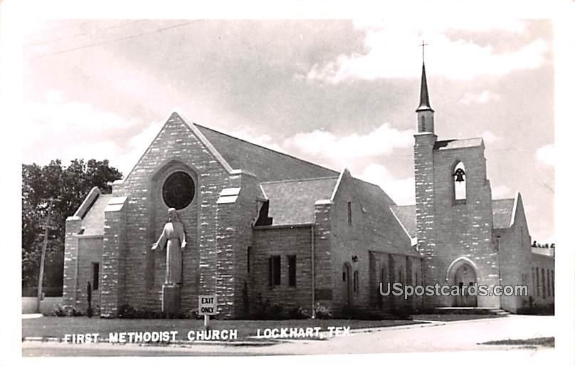 First Methodist Church - Lockhart, Texas TX Postcard