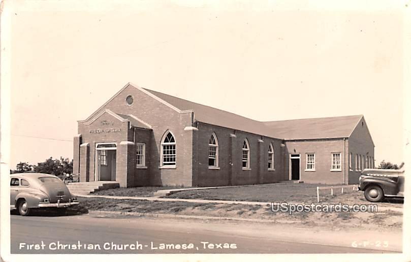 First Christian Church - Lamesa, Texas TX Postcard