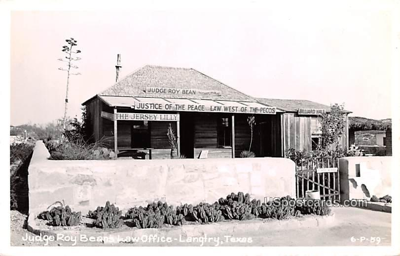 Judge Roy Beans Law Office - Langtry, Texas TX Postcard