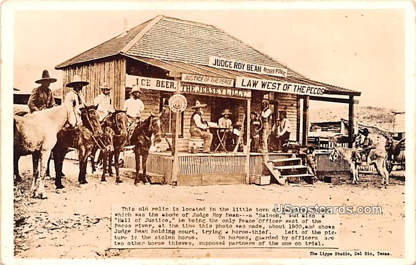 Judge Roy Bean Notary Public - Langtry, Texas TX Postcard