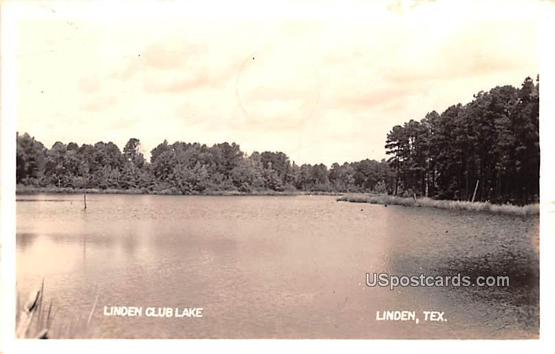 Linden Club Lake - Texas TX Postcard