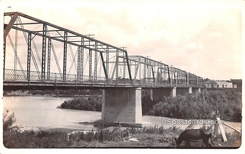 Bridge - Laredo, Texas TX Postcard