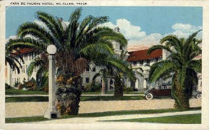 Casa De Palms - McAllen, Texas TX Postcard