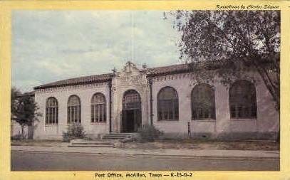 Post Office - McAllen, Texas TX Postcard