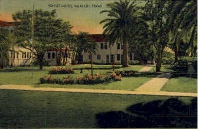 Sunset Motel - McAllen, Texas TX Postcard