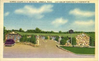Sunrise Courts - Mineola, Texas TX Postcard