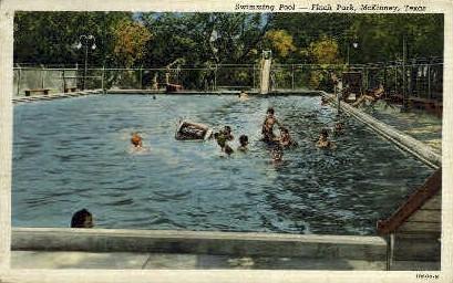 Finch Park Pool, Coca Cola - McKinney, Texas TX Postcard