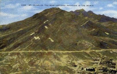 Mt. Franklin - Misc, Texas TX Postcard