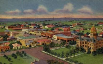 Birds Eye View - Marfa, Texas TX Postcard