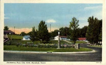 City Park - Marshall, Texas TX Postcard