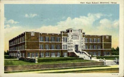 New High School - Marshall, Texas TX Postcard