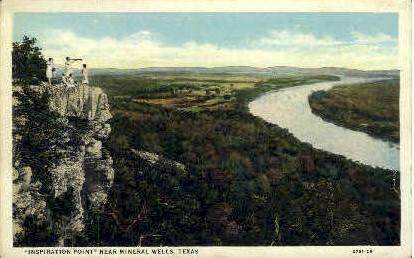Inspiration Point - Mineral Wells, Texas TX Postcard