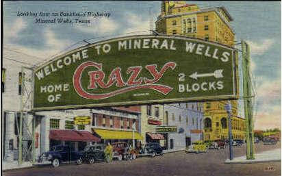 Bankhead Highway - Mineral Wells, Texas TX Postcard
