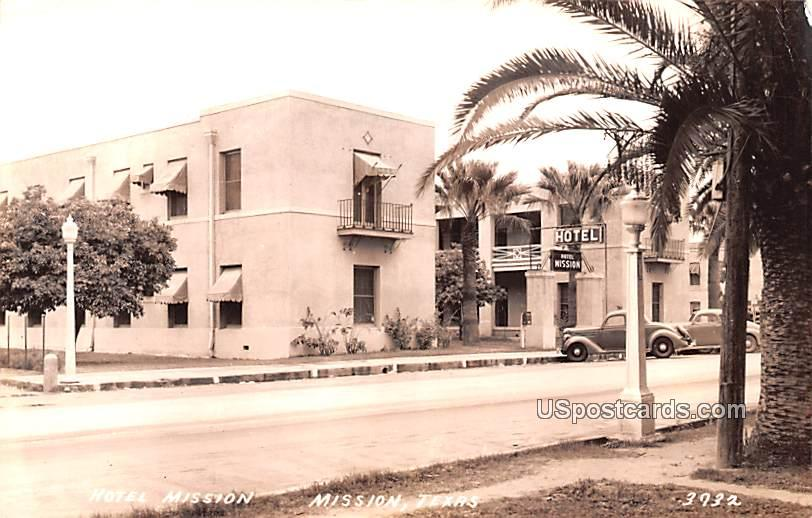 Hotel Mission - Texas TX Postcard