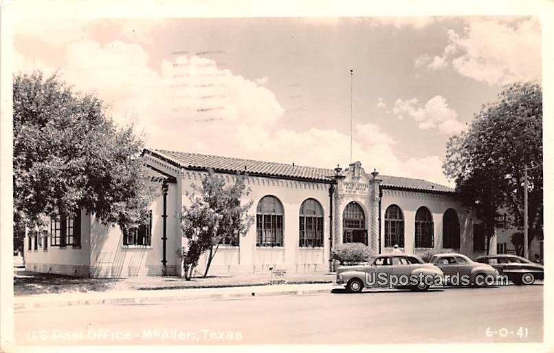 US Post Office - McAllen, Texas TX Postcard