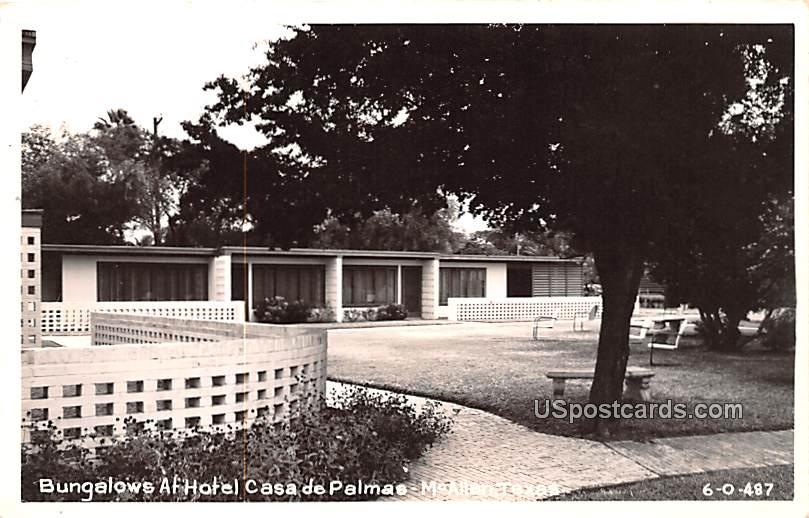 Bungalows at Hotel Casa De Palmas - McAllen, Texas TX Postcard