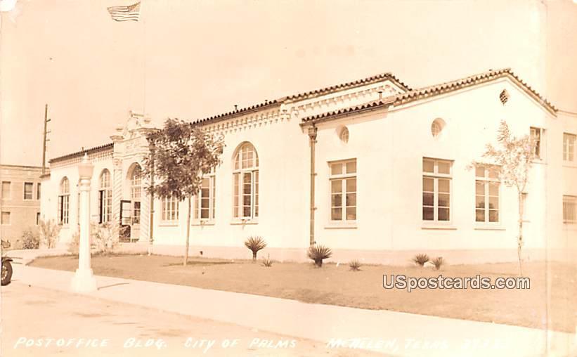 Post Office building - McAllen, Texas TX Postcard
