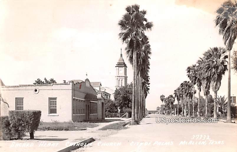 Sacred Heart Catholic Church - McAllen, Texas TX Postcard