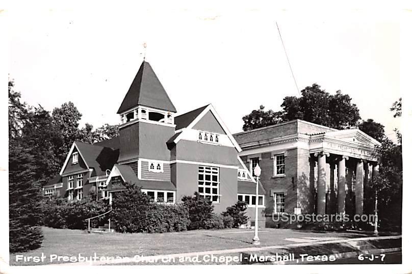 First Presbyterian Church and Chapel - Marshall, Texas TX Postcard