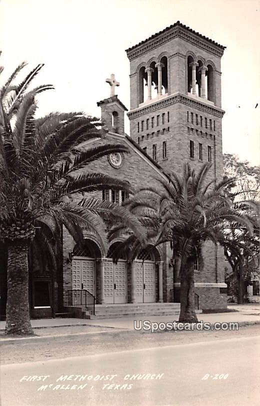 First Methodist Church - McAllen, Texas TX Postcard