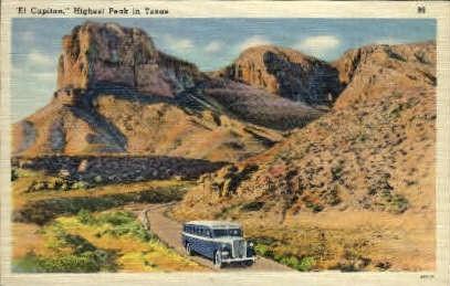 El Capitan - Misc, Texas TX Postcard