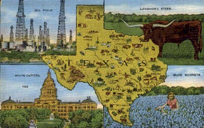 Misc - Texas TX Postcard