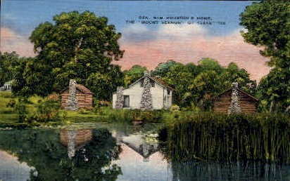General Sam Houston's First Residence - Mount Vernon, Texas TX Postcard