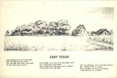 East Texas - Misc Postcard