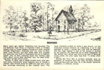 Rondo - Misc, Texas TX Postcard