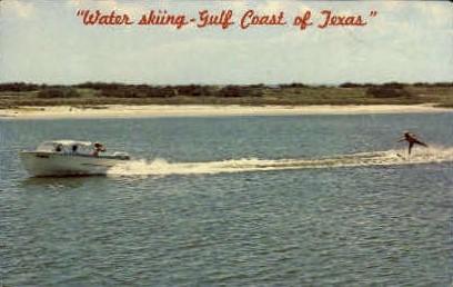 Water Skiing - Misc, Texas TX Postcard