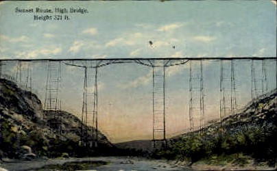Sunset Route - Misc, Texas TX Postcard
