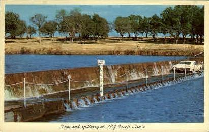 Dam and Spillway - Misc, Texas TX Postcard
