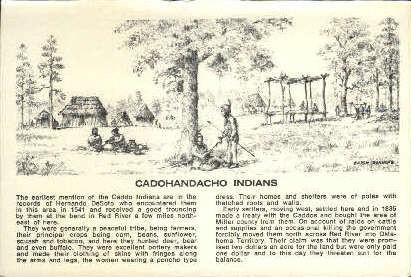 Cadohandacho Indians - Misc, Texas TX Postcard