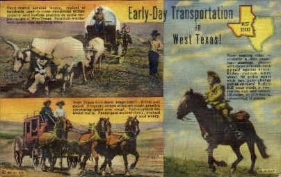 Transportation in West Texas - Misc Postcard