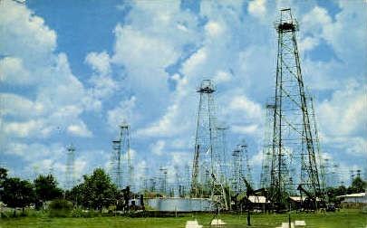 Texas Oil Field - Misc Postcard
