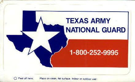 Texas Army National Guard  - Misc Postcard