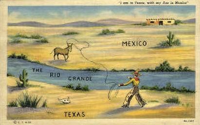 The Rio Grande - Misc, Texas TX Postcard