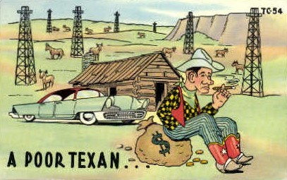 Poor Texan - Misc, Texas TX Postcard