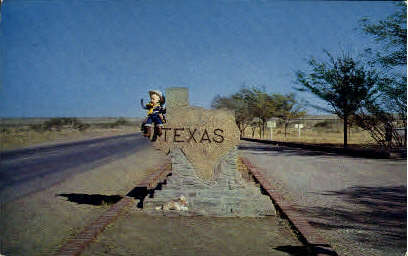 Texas Sign - Misc Postcard