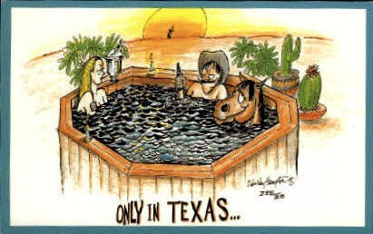 Only In Texas - Misc Postcard