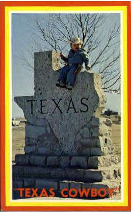 Texas Cowboy - Misc Postcard