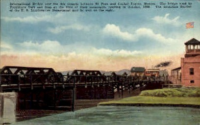 International Bridge  - Rio Grande Valley, Texas TX Postcard